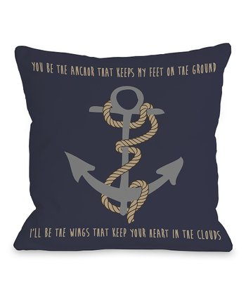 'You Be the Anchor' Pillow