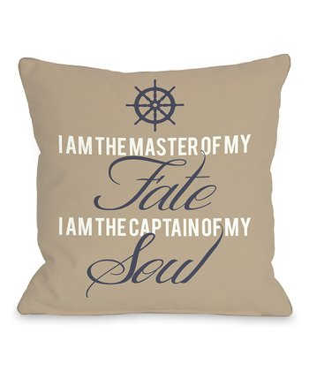 'Master of Fate, Captain of Soul' Pillow