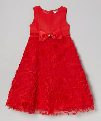 Red Mary Lou A-Line Dress - Toddler & Girls