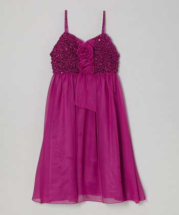 Plum Lola Dress - Girls
