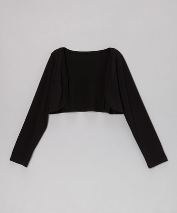 Black Jersey Knit Bolero - Toddler & Girls