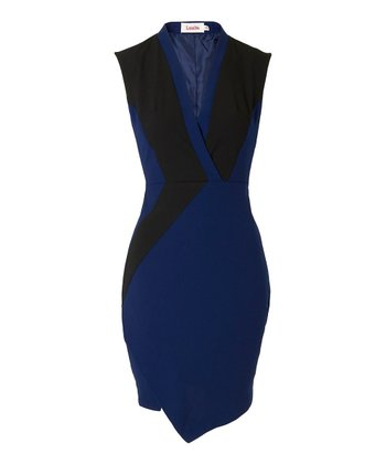 Navy & Black Audie Dress