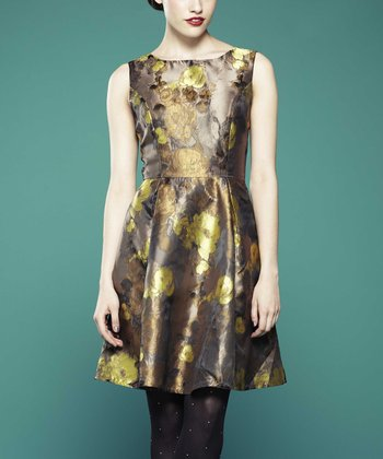 Gold Bonne Dress