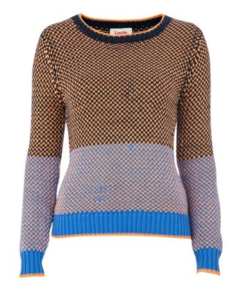 Blue & Yellow Cade Sweater