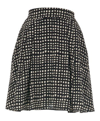 Black & Cream Square Eden Skirt