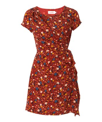 Red & Blue Splatter Kayven Dress