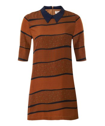 Toffee Stripe Layton Dress