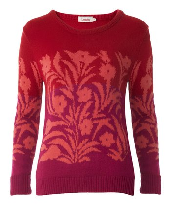 Pink & Red Floral Lovella Sweater
