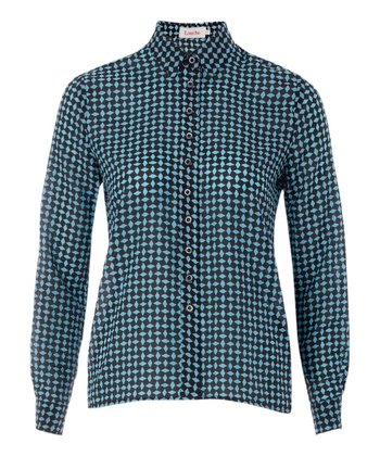 Blue Manzie Button-Up