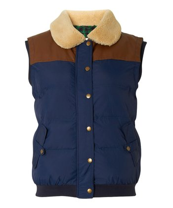 Navy & Brown Montana Vest