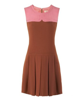 Brown & Pink Pam Dress