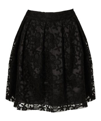 Black Lace Virginia Skirt