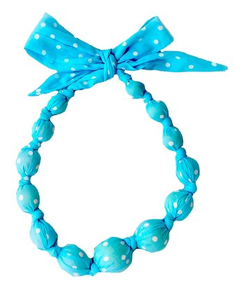 Turquoise Polka Dot Beaded Necklace
