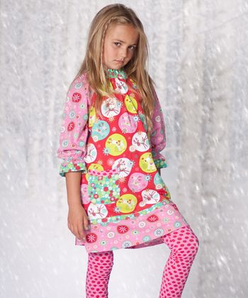 Pink Jingle Jelly Dress & Leggings - Girls