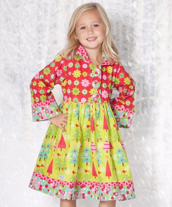 Lime Oh Christmas Tree Hannah Dress - Infant & Toddler