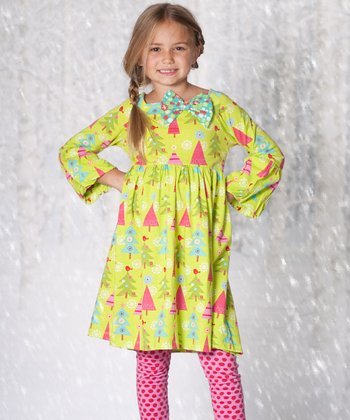 Christmas Tree Ashley Dress & Leggings - Infant