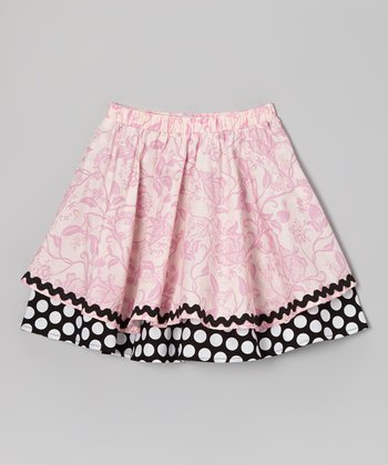 Pink Polka Dot Twirl Skirt - Toddler & Girls