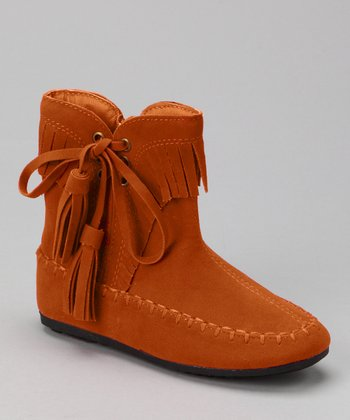 Orange Katherine Tassel Ankle Boot
