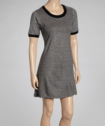 Black Crew Neck T-Shirt Dress