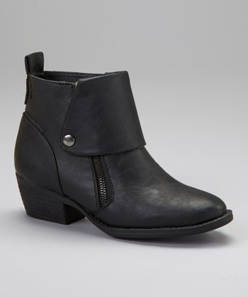 Black Link Ankle Boot