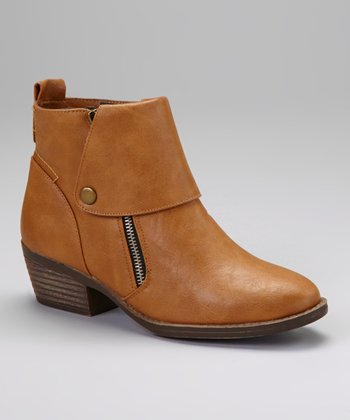 Cognac Link Ankle Boot