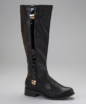 Black Stripe Boot