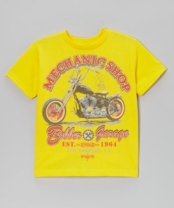 Yellow 'Bobber Garage' Tee - Toddler & Boys