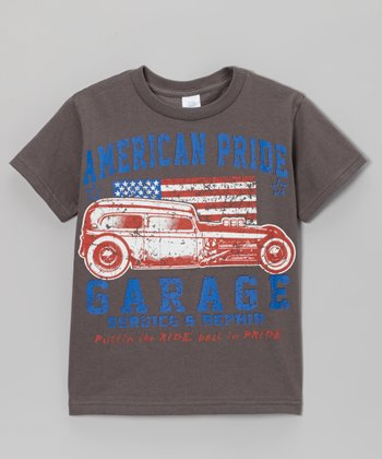 Charcoal 'American Pride Garage' Tee - Toddler & Boys