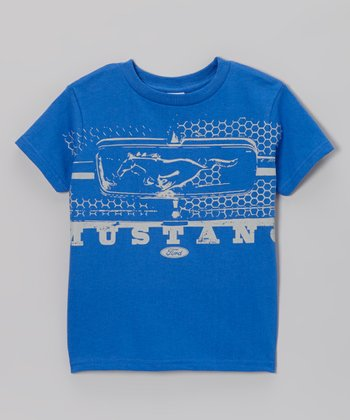 Royal Blue Mustang Grille Tee - Toddler & Boys