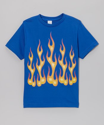 Royal Blue Flames Tee - Toddler & Boys