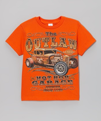 Orange 'Outlaw' Hot Rod Tee - Toddler & Boys