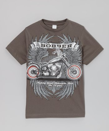 Charcoal 'Bobber' Wings Tee - Toddler & Boys