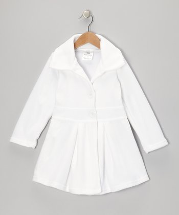 White Button Coat - Infant, Toddler & Girls