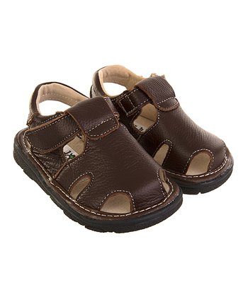 Brown Closed-Toe Sandal
