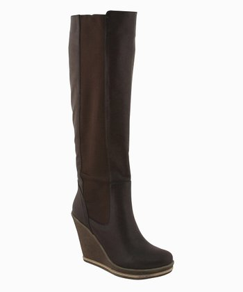 Brown Anna Wedge Boot