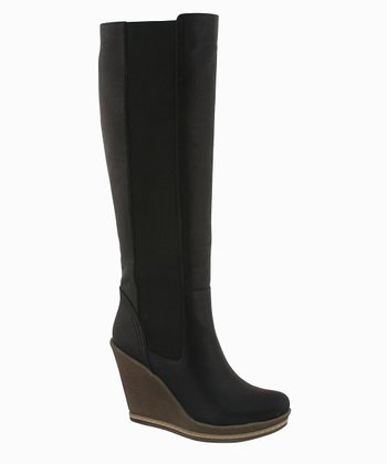 Black Anna Wedge Boot