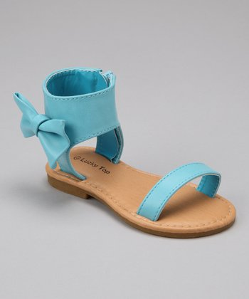 Light Blue Bow Sandal