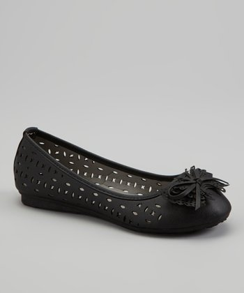 Black Butterfly Bow Ballet Flat