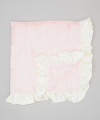 Pink & Ivory Cotton Candy Crib Blanket