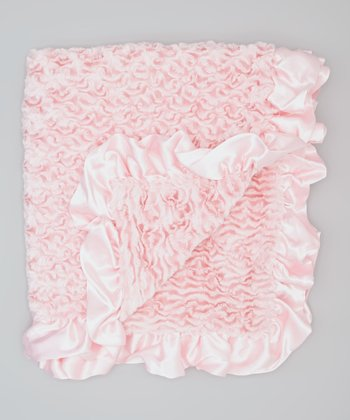 Pink Ice Cream Ruffle Crib Blanket