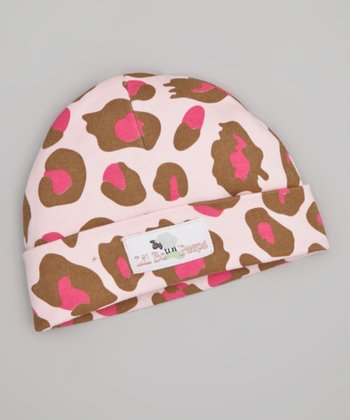 Pink & Brown Cheetah Beanie