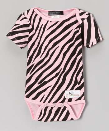 Pink & Black Zebra Bodysuit - Infant