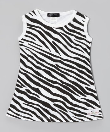 Black & White Zebra Dress - Infant