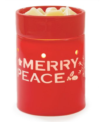 Red Seasons Greetings Illumination Wax Warmer