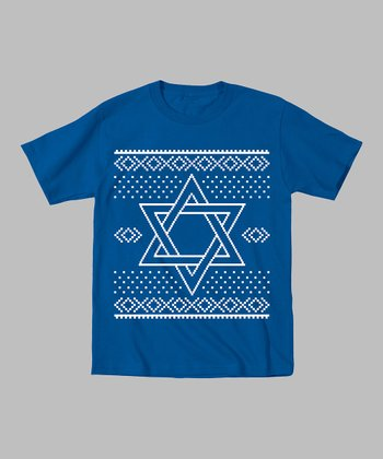 Royal Blue Star of David Tee - Toddler & Kids
