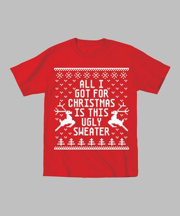 Red 'All I Got for Christmas' Tee - Toddler & Kids