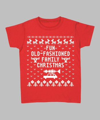 Red 'Fun Old-Fashioned Family Christmas' Tee - Women & Plus