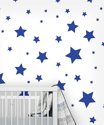 Blue Star Wall Decal Set