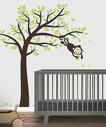 Monkey Tree Wall Decal Set