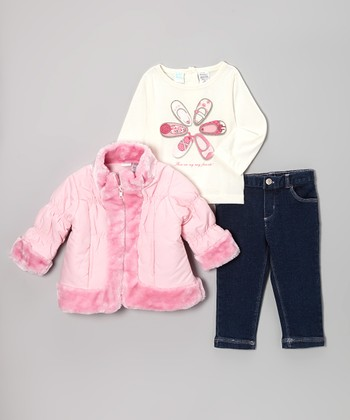 Pink Quilted Jacket Set - Infant & Toddler